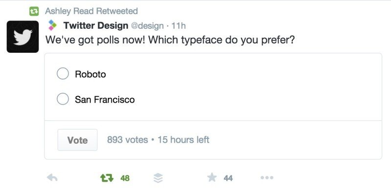 Twitter rolls out Poll feature